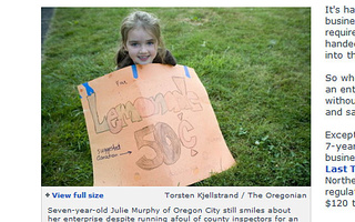 Little Oregon Lemonade Girl Triumphs