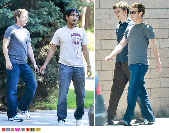 Mark Zuckerberg Gets the Paparazzi Treatment