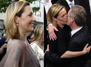 Germany's Kissy First Lady Has a Tribal Tattoo