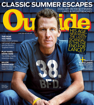 Lance Armstrong Doesn't Appreciate Outside's Photoshop Skills