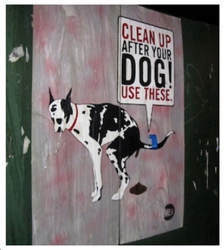 Street Art Helps You Pick Up Dog Crap