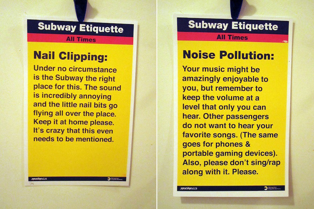 Unofficial Subway Etiquette Campaign Launches