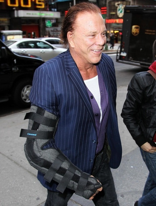 """Release the Bionic Mickey Rourke..."""