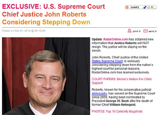Did RadarOnline.com's John Roberts Rumor Come From a First-Year Law Class?