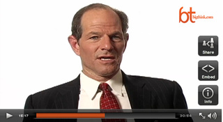 "Eliot Spitzer's Best Interview Yet: Dispelling the ""Socks"" Rumor"