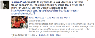 Local Mail-Order Bride Makes Good on 'Oprah'