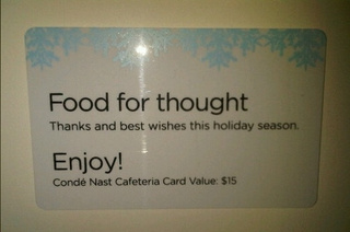 Conde Nast's Subsistence-Level Holiday Gift