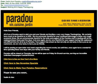 The Paradou Email: An Update