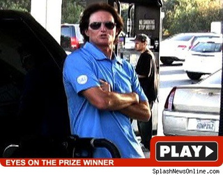 Bruce Jenner Criticizes Nobel Committee At Calabasas Gas Station