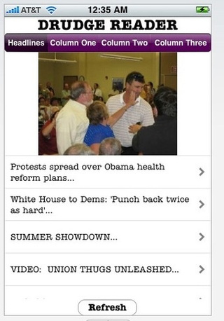 Drudge Fan's iPhone App Helpfully Strips Out Advertising