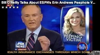 Pervy Flesh-Peddler Bill O'Reilly Plays Erin Andrews Peephole Video On-Air
