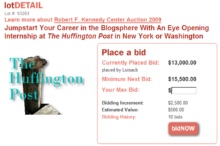 HuffPo Now Killing Journalism By Literally Auctioning Off a Job