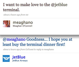 JetBlue Twitter Intern Not Afraid To Be Servicey