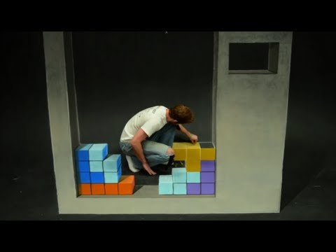Click here to read Playing Tetris in Stop Motion Chalk Art Is A Lot Harder Than You Think