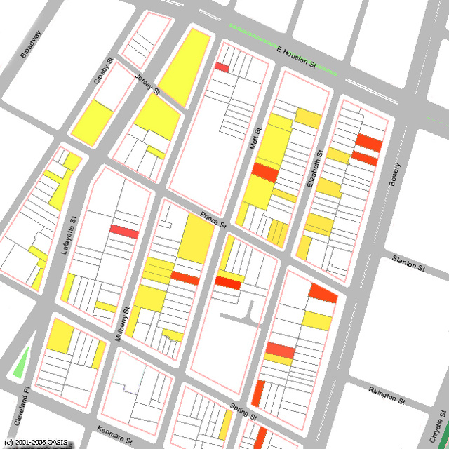 The Recession Map of NoLIta