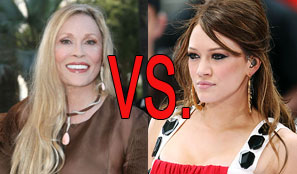 Hilary Duff And Faye Dunaway Kick Off 2009's First Great Catfight