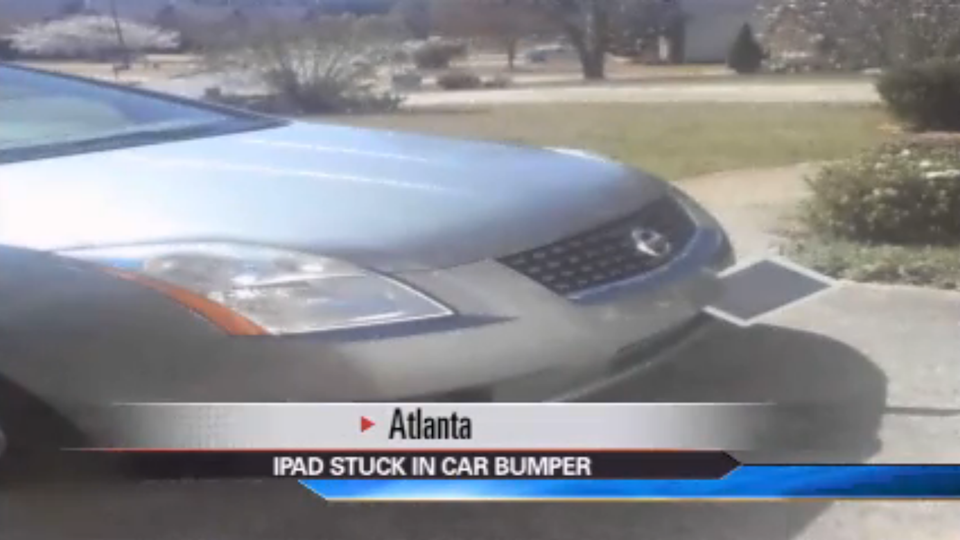 How the Hell Did This iPad Get Stuck Inside a Car Bumper?