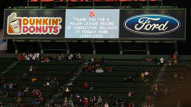 "Red Sox's ""Sellout"" ""Streak"" ""Ends"""