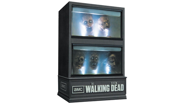 Click here to read <em>The Walking Dead: Season 3</em> on Blu-ray Comes In This Creepy Cabinet of Zombie Heads