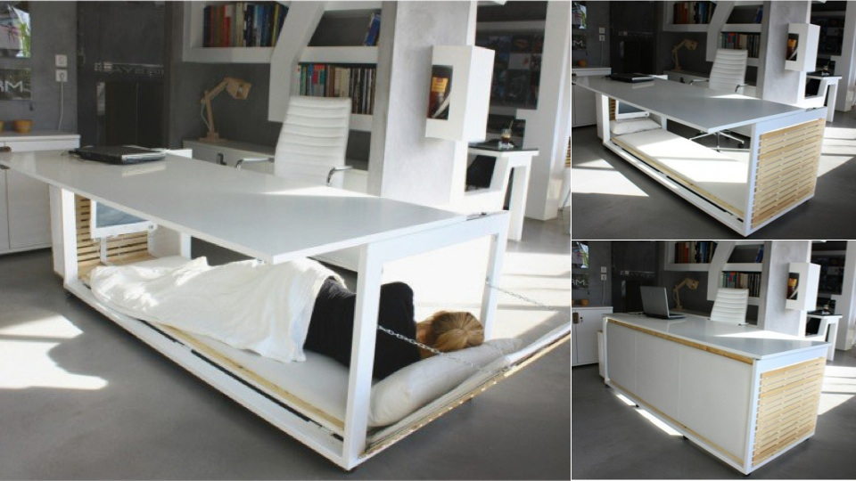 This Desk Bed Makes Snoozing At Work A Cinch