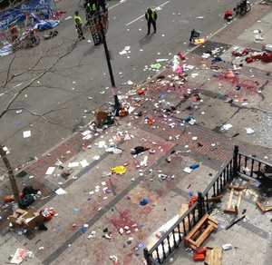 Two Blasts Rock Finish Line at Boston Marathon; Dozens Injured