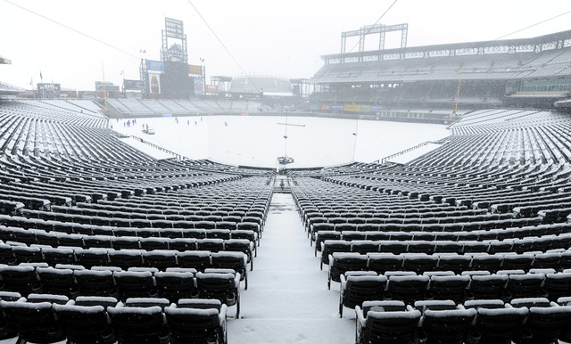 Mets-Rockies Last Night Was Really, Really Snowed Out
