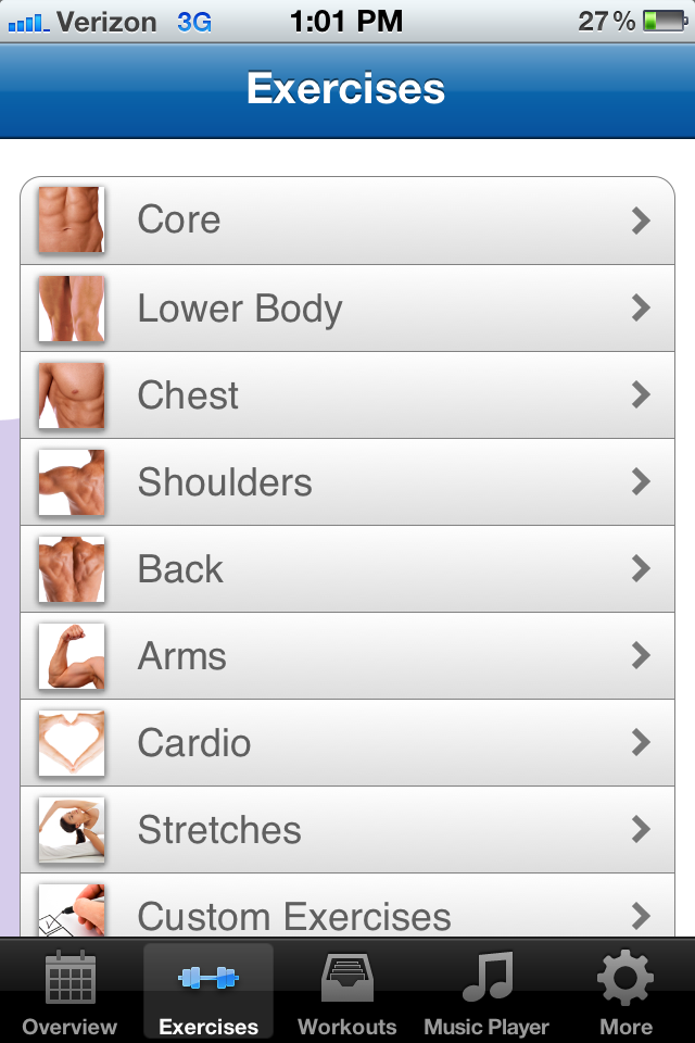 Fitness Buddy App Gallery