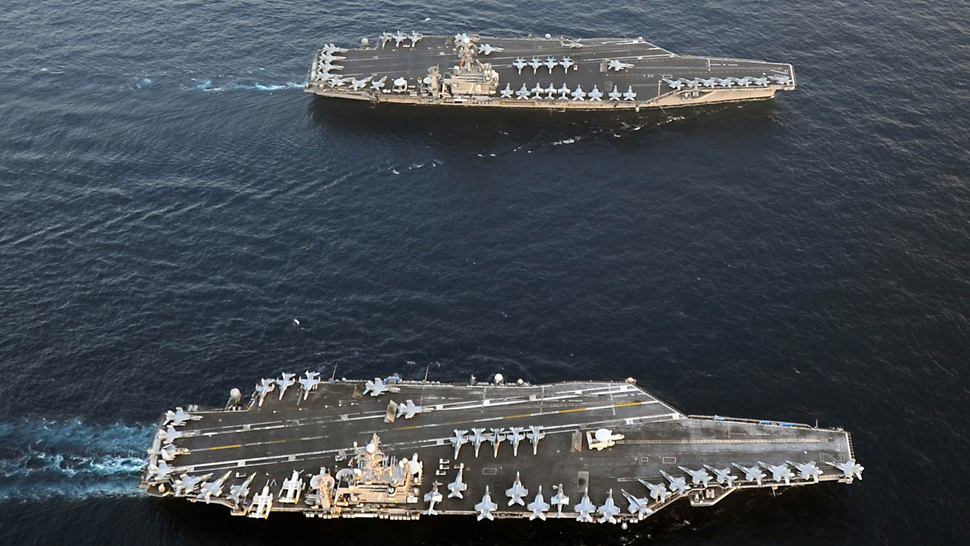 Two Supercarriers Side By Side Look Awesome But It's Very Bad News