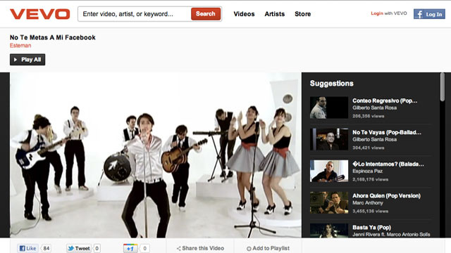 Music Video Megamart Vevo Might Find New Home at Facebook