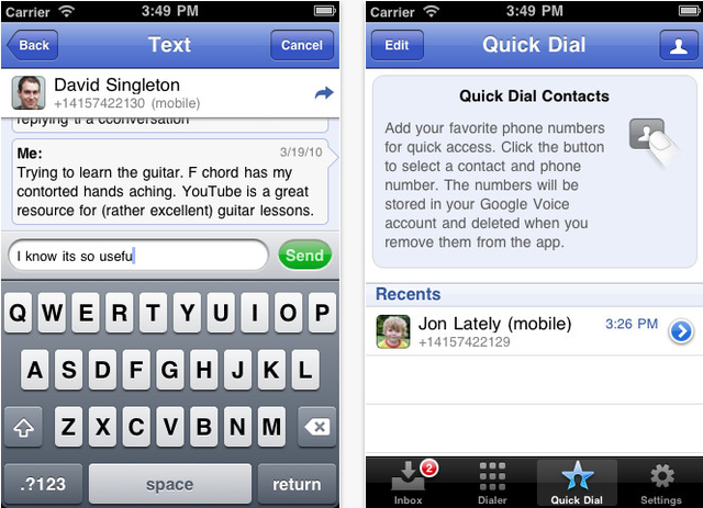 Google Voice for iOS Opens the Party Line with Group Texts