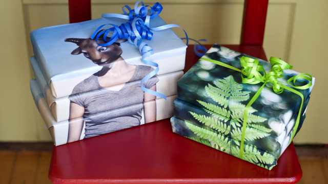 How to Print Your Own Custom Holiday Wrapping Paper