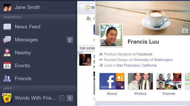 Facebook's Sweet Timeline Is on the iPhone Now Too