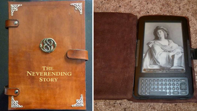 Handmade Leather Case Turns Your e-Reader Into a Neverending Story of Your Own