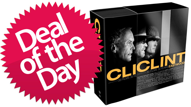 35 DVDs of Menacing Clint Eastwood Glares Are Your Deal of the Day
