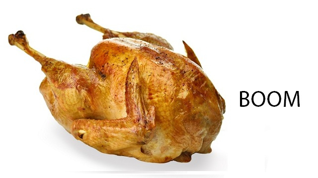 Why Deep-Fried Frozen Turkeys Go Kablooie