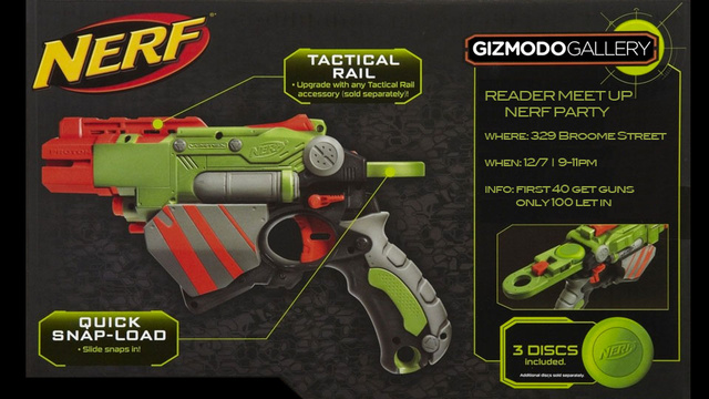 The Gizmodo Gallery Reader Meetup Will Be a Huge Nerf War