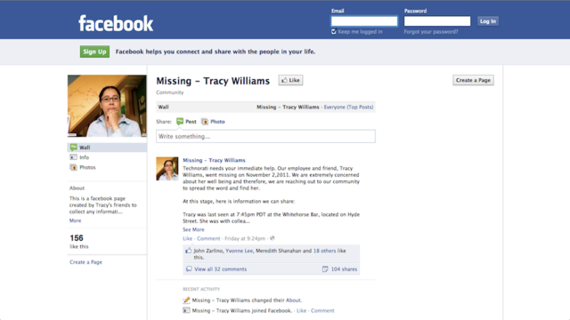 Have You Seen Missing Technorati Employee Tracy Williams?