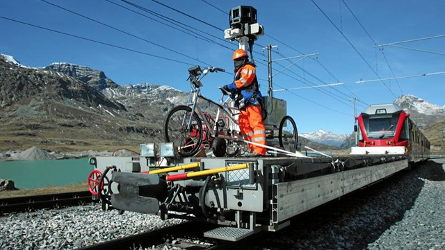 How Google Street View Rides the Rails