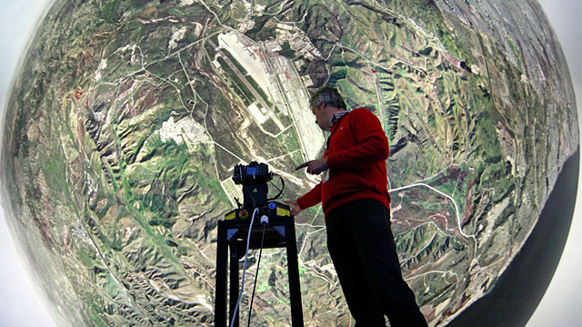 Barco's 360 Degree Flight Simulator Lets Top Guns Train Without the Risk of Goose Dying