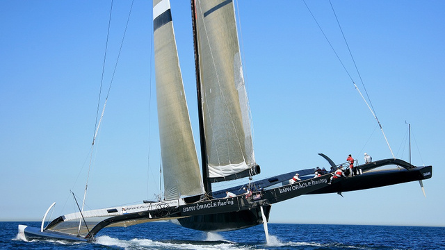 Larry Ellison's Sail Boat Is Literally Faster than the Wind