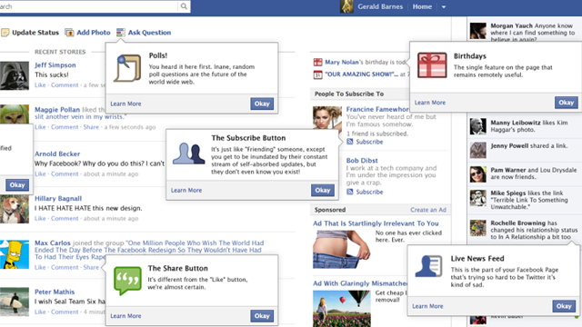 The New Facebook Layout, Translated