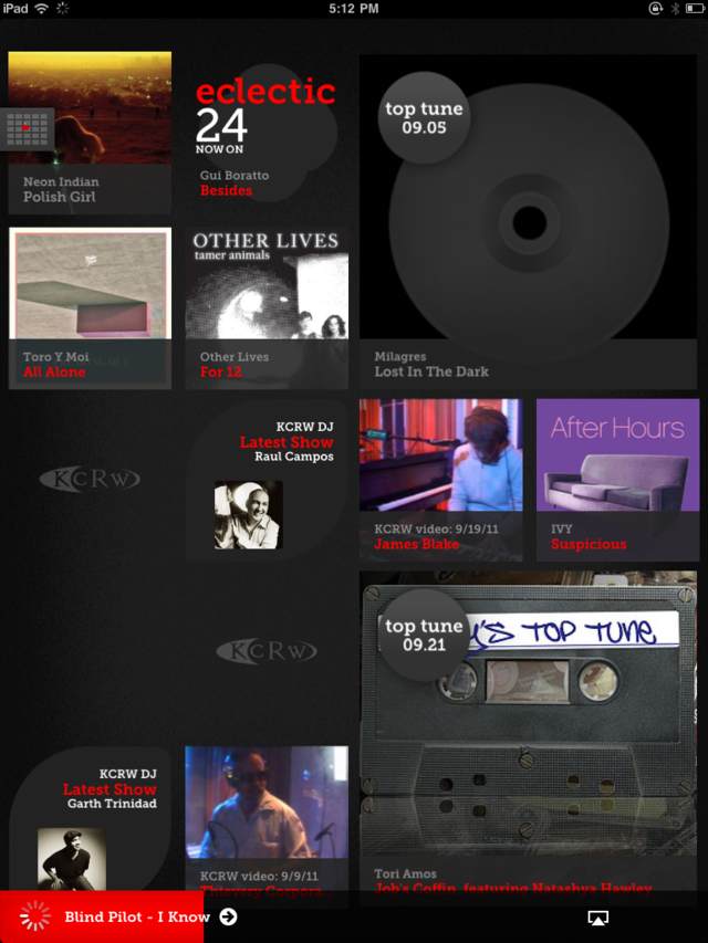 KCRW Music Mine App Gallery