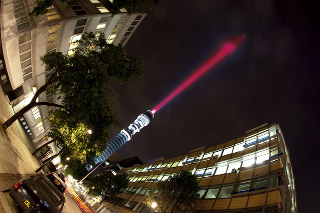 Someone Put a Giant 581-Foot Lightsaber In the Middle of London
