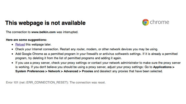 Whoops, I Broke Belkin's Site