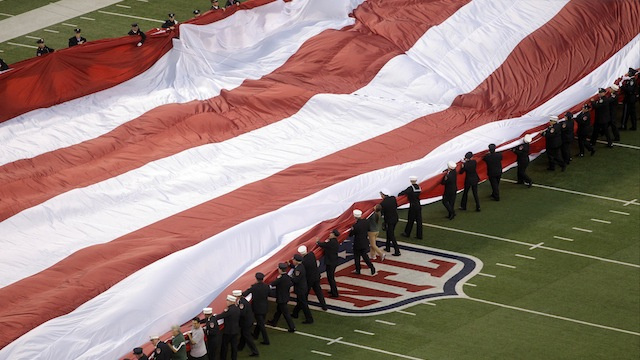 Those Humungous American Flags at Football Stadiums Weigh 1,100 Pounds and Cost $50,000 to Make