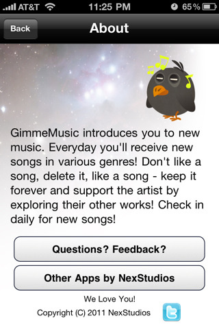 Gimme Music App Gallery