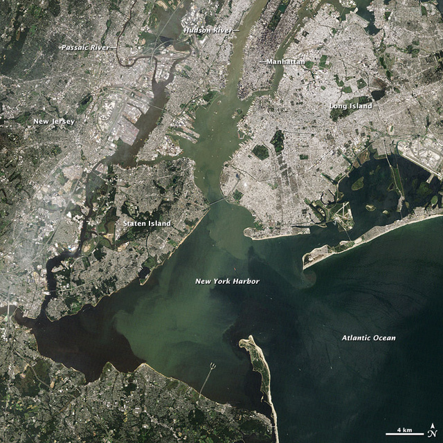 The Massive Amount of Crap Left By Irene In New York's Harbor