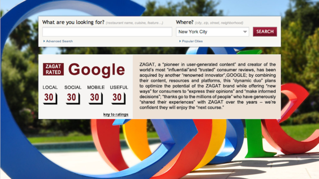 Google Just Bought Zagat, Making It the New King of Restaurant Ratings