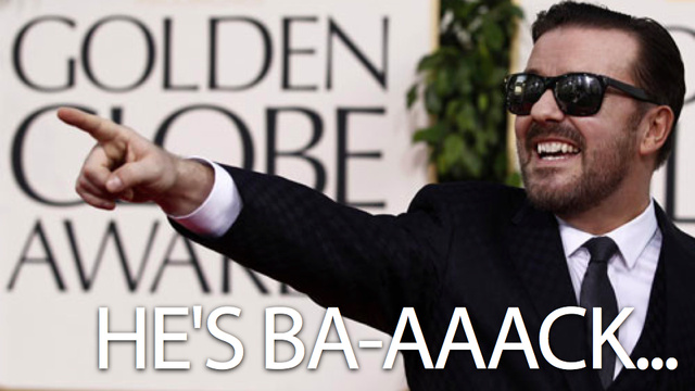 I Will Watch the Hell Out of Ricky Gervais' Live-Streaming Commentary for the Golden Globes