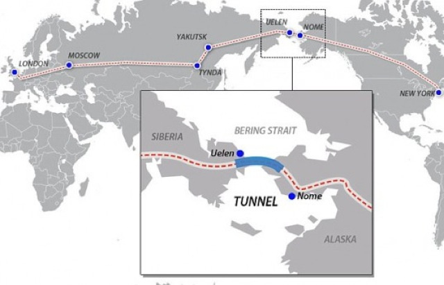 There's Going to Be an Underwater Tunnel Connecting Russia to Alaska